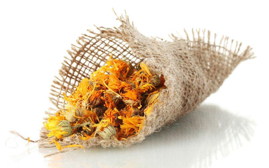 Высушенные цветы календулы