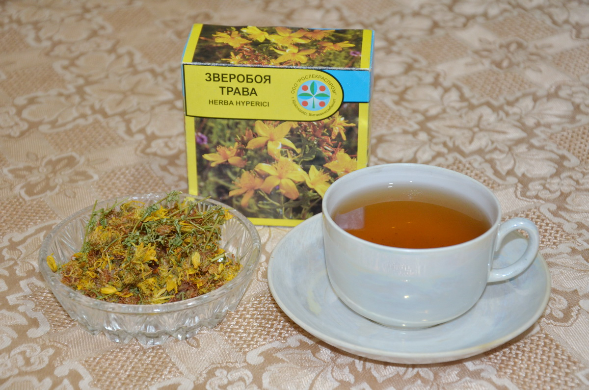 Зверобой чай
