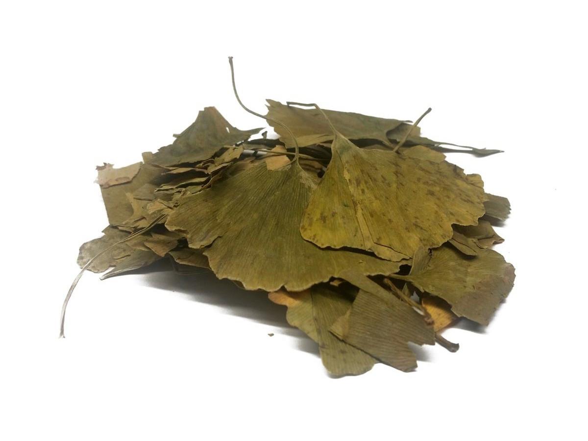 Сушеные листья гинкго билобы