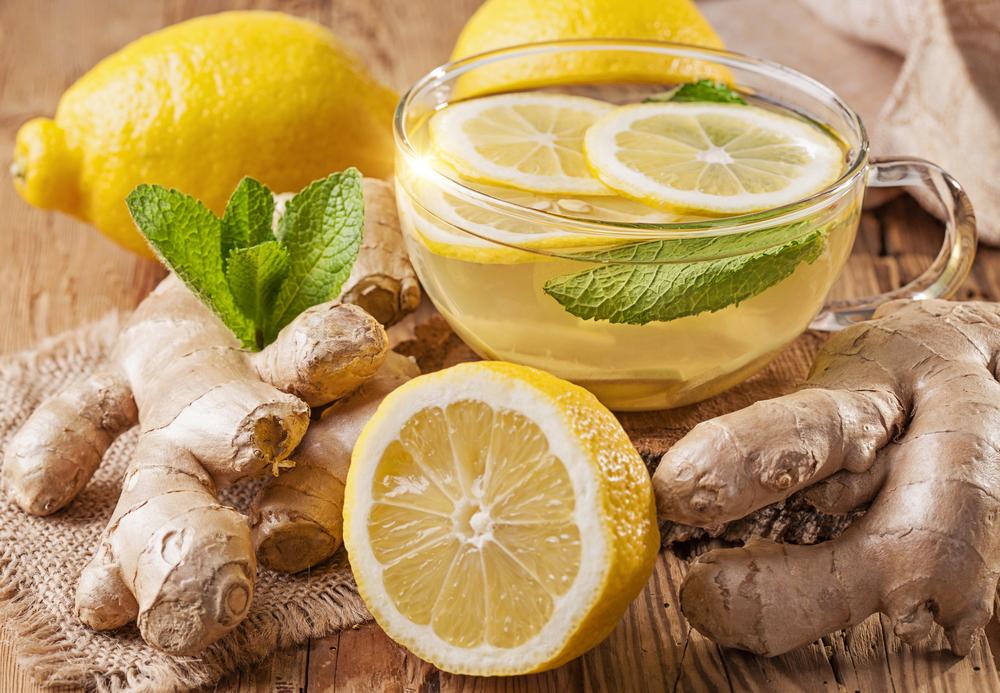 Имбирь, лимон и мята