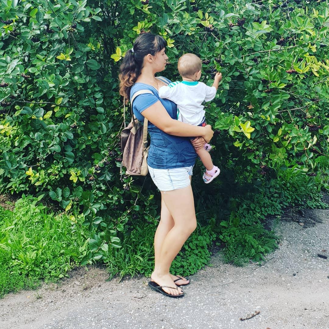 Черноплодка и ребенок