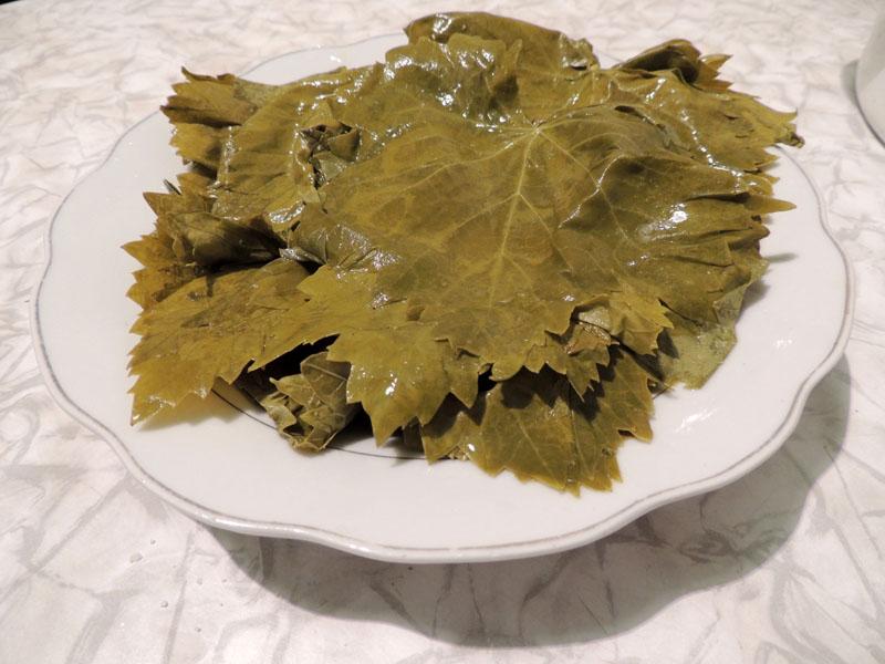 Соленые листья винограда