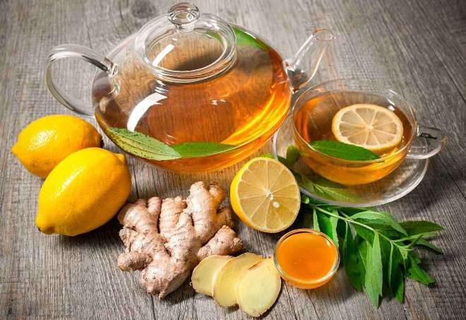 Имбирь, лимон, мед